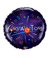 "36"" Congratulations Dazzle–Did It Jumbo Balloon"