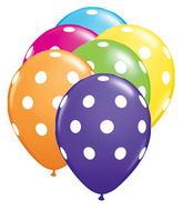 """5"""" Big Polka Dots Tropical Assortment (100 ct.)"""
