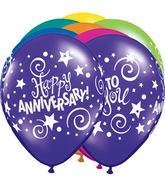 """11"""" Anniversary Stars & Swirls Fantasy Assortment (50 ct.)"""