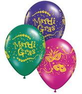 "11"" Mardi Gras Masks & Beads Assorted  (50 ct.)"
