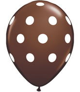 "11"" Big Polka Dots Chocolate Brown (50 ct.)"