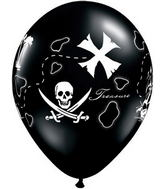 "11"" Pirate's Treasure Map Onyx Black (50 ct.)"