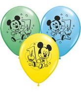 """11"""" Assorted Latex Balloons Mickey Mouse"""