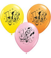 """11"""" Assorted Latex Balloons Minnie Mouse"""
