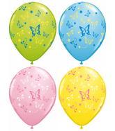 "11"" 50 Count Assorted Latex Balloons Butterflies"