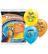 "12"" Turbo 6 pack Latex Balloons"
