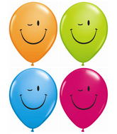 "11"" Winking Smile Face Assorted (50 ct.)"