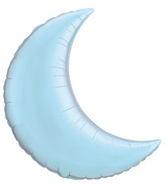 "35"" Crescent Moon Pearl Light Blue Balloon"
