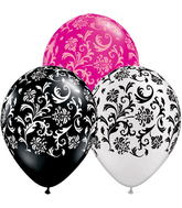 """11"""" Damask Print Assorted (50 ct.)"""