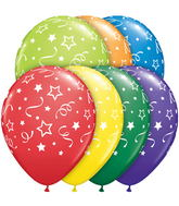 "11"" Stars, Dots, & Confetti Carnival Assortment (50 ct.)"