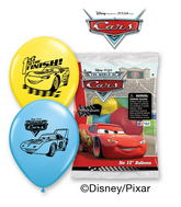 "12"" Disney Cars 6 pack Latex Balloons"