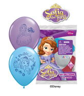 "12"" Sofia the First 6 pack Latex Balloons"