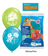 "12"" Finding Nemo 6 pack Latex Balloons"