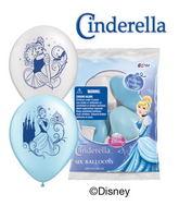 "12"" Cinderella 6 pack Latex Balloons"