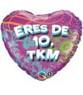 """18"""" Eres De 10, TKM Balloon"""