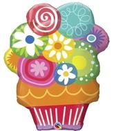"34"" Floral Flowers Circles Bouquet Balloon"
