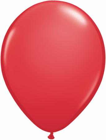 "5""  Qualatex Latex Balloons  RED  100CT"