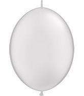 "12"" Qualatex Latex Quicklink Pearl White 50 Count"