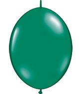 """12"""" Qualatex Latex Quicklink Emerald Green 50 Count"""