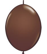"""12"""" Qualatex Latex Quicklink Chocolate Brown 50 Count"""