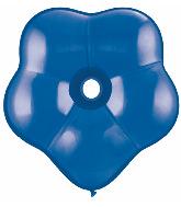"""6"""" Geo Blossom Latex Balloons  (50 Count) Sapphire Blue"""