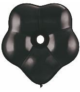 "6"" Geo Blossom Latex Balloons  (50 Count) Onyx Black"