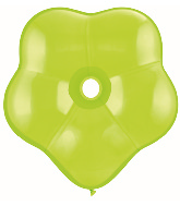 """16"""" Geo Blossom Latex Balloons  (25 Count) Lime Green"""