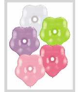 "16"" Geo Blossom Latex Balloons  (50 Count) Flower Assort"