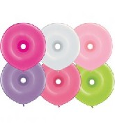 "16"" Geo Donut Latex Balloons (50 Count) Flower Assort"