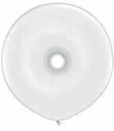 "16"" Geo Donut Latex Balloons (25 Count) White"