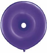 """16"""" Geo Donut Latex Balloons (25 Count) Quartz Purple"""