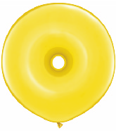 "16"" Geo Donut Latex Balloons (25 Count) Citrine Yellow"