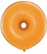 "16"" Geo Donut Latex Balloons (25 Count) Mandarin Orange"