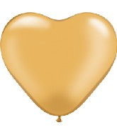 """6"""" Heart Latex Balloons (100 Count) Gold"""