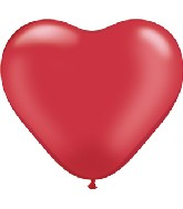 """6"""" Heart Latex Balloons (100 Count) Pearl Ruby Red"""