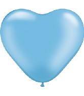 """6"""" Heart Latex Balloons (100 Count) Pearl Azure"""