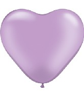 """6"""" Heart Latex Balloons (100 Count) Pearl Lavender"""
