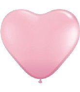 """6"""" Heart Latex Balloons (100 Count) Pearl Pink"""