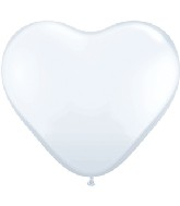 """6"""" Heart Latex Balloons (100 Count) Pearl White"""
