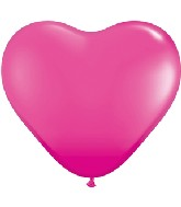 """11"""" Heart Latex balloons (100 Count) Wild Berry"""