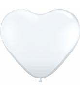 "6"" Heart Latex Balloons (100 Count) Diamond Clear"