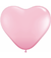"""6"""" Heart Latex Balloons (100 Count) Pink"""