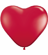 """6"""" Heart Latex Balloons (100 Count) Ruby Red"""