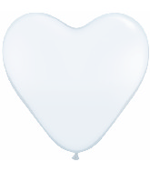 """6"""" Heart Latex Balloons (100 Count) White"""