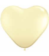 """6"""" Heart Latex Balloons (100 Count) Ivory Silk"""