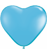 """6"""" Heart Latex Balloons (100 Count) Pale Blue"""