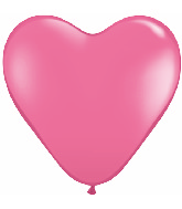 "15"" Heart Latex Balloons (50 Count) Rose"