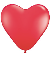 "11"" Heart Latex balloons (100 Count) Red"