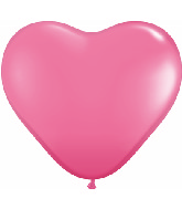 """11"""" Heart Latex balloons (100 Count) Rose"""