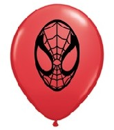 "5"" Red Spider-Man Face Latex Balloon 100 per bag"
